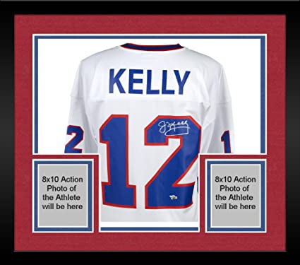 cde43786ce3 Image Unavailable. Image not available for. Color: Framed Jim Kelly Buffalo Bills  Autographed White Mitchell & Ness ...