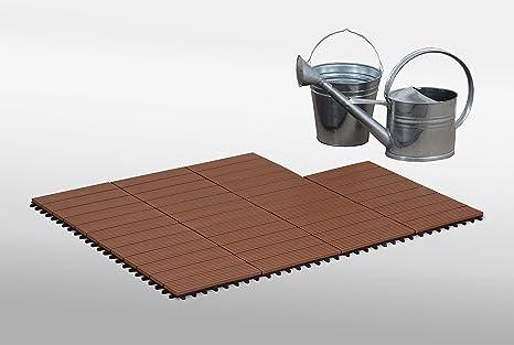 Four slat wood composite deck piastrelle per esterni e interni
