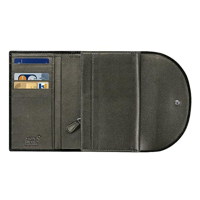 Amazon.com: Montblanc 106783 Monedero 5 CC con solapa y ...