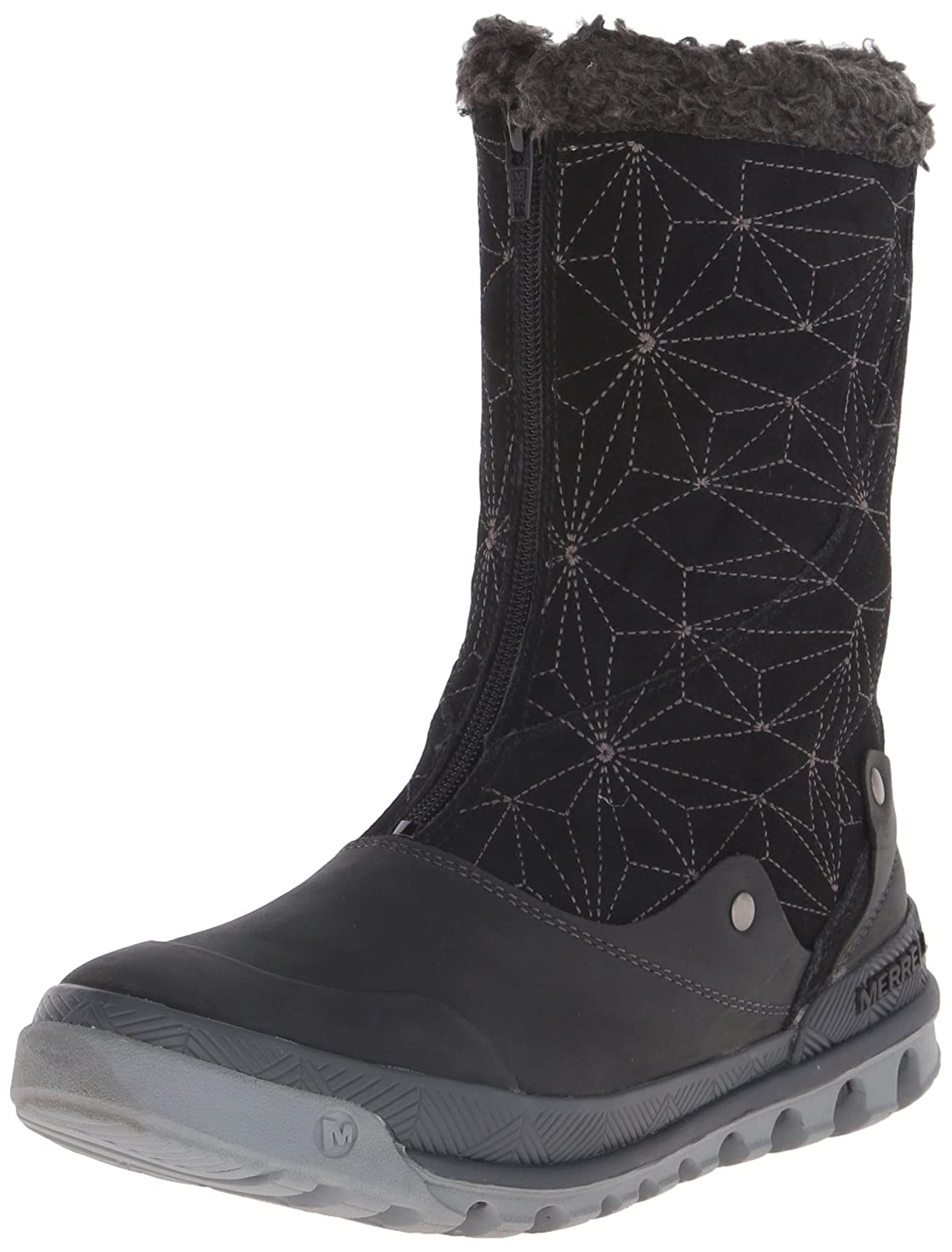 Merrell Women's Silversun Zip Waterproof Winter Boot B00R4L8GJK 9.5 B(M) US|Black