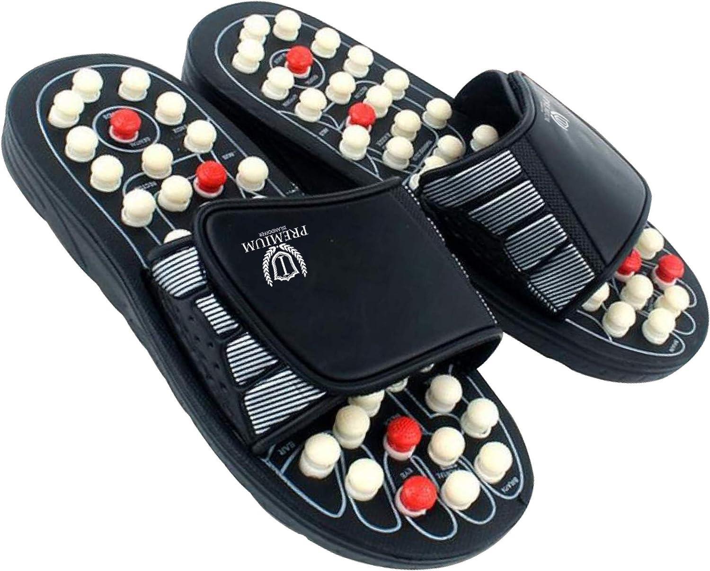 Islandoffer Premium Reflexology Foot Acupressure Massage Slippers (W9/M7, 40-41)