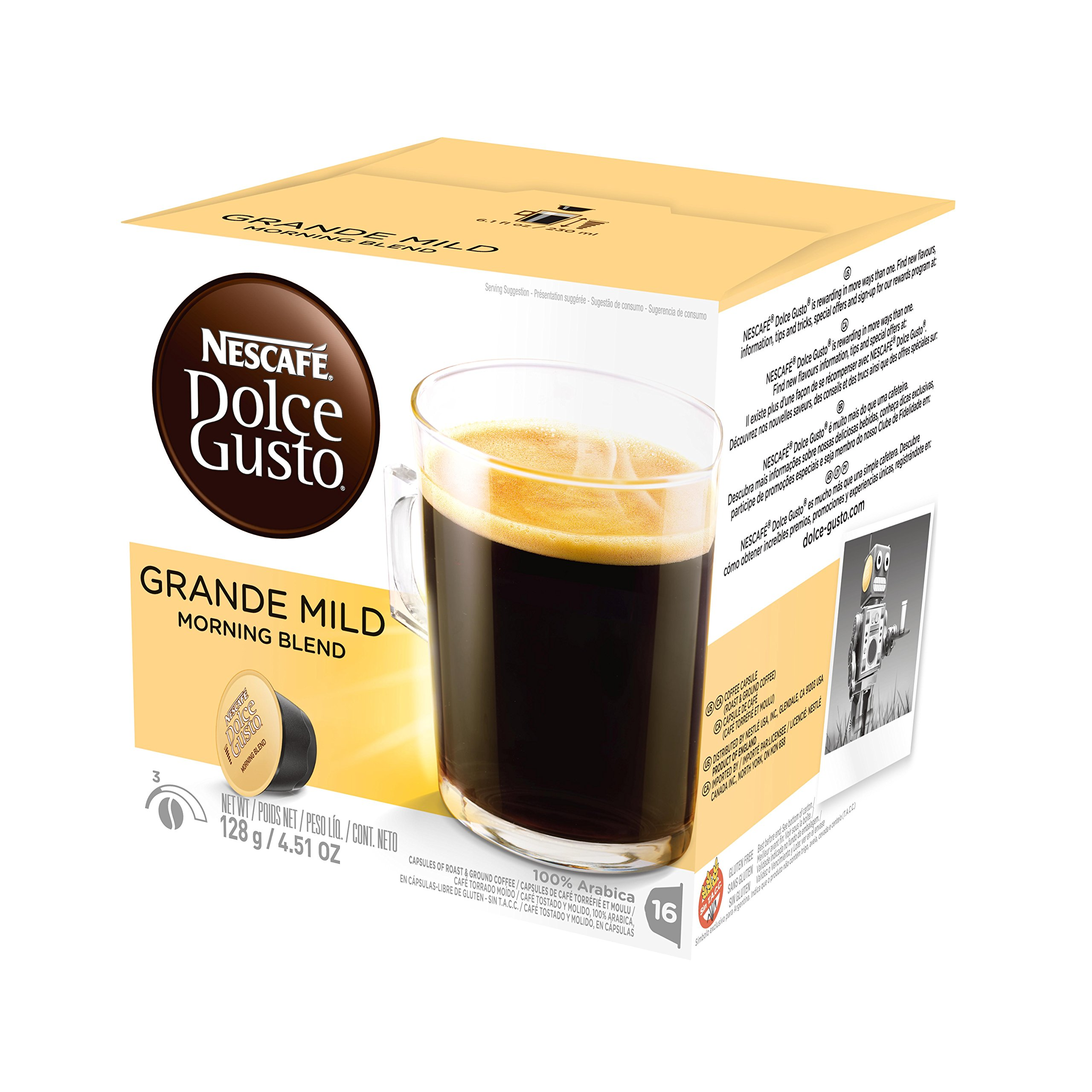 nescaf dolce gusto coffee capsules caf lungo 48 single serve pods makes 48 cups 48. Black Bedroom Furniture Sets. Home Design Ideas