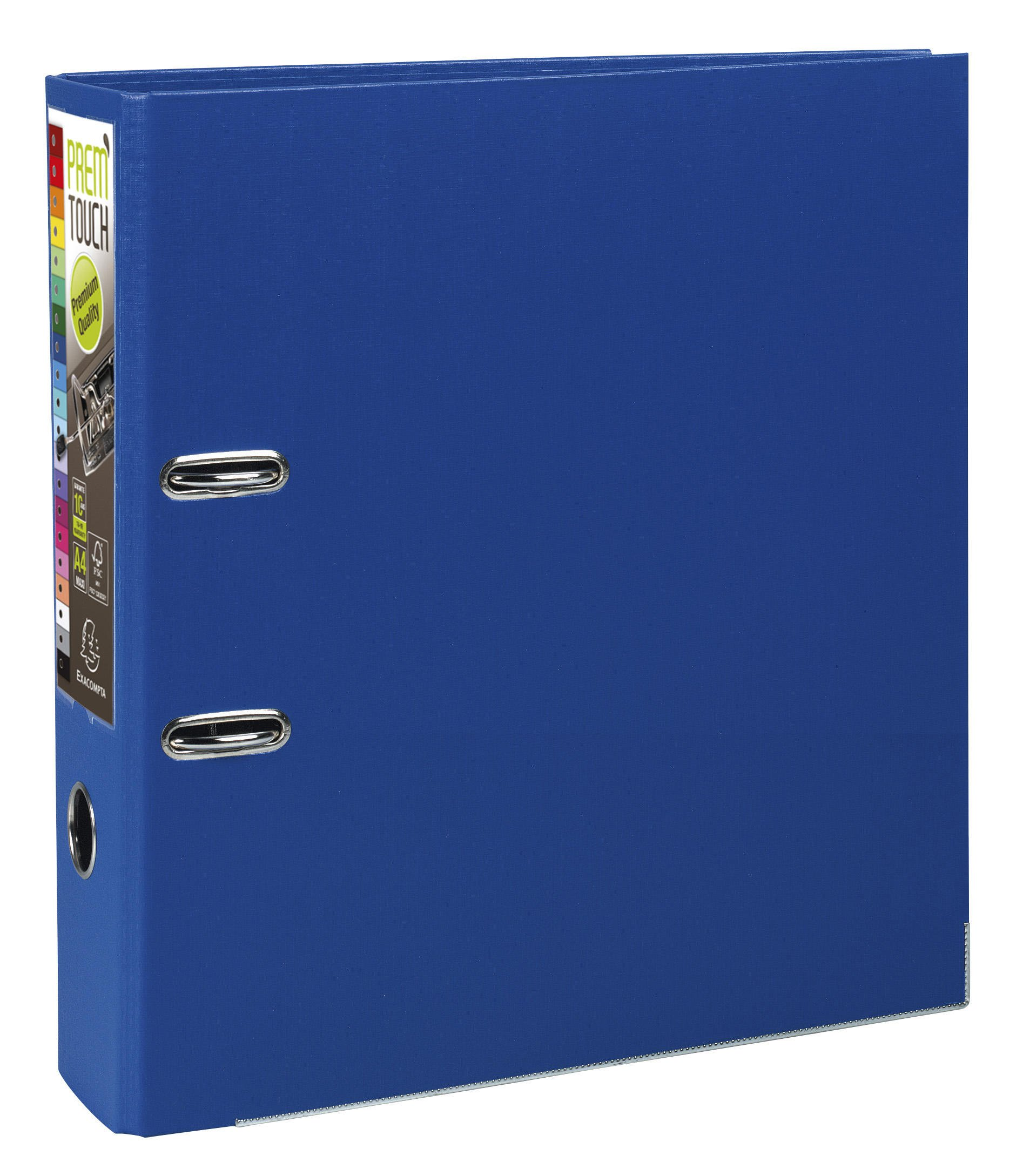 Exacompta A4 Maxi Prem'Touch PP Lever Arch File, 80 mm Spine, Dark Blue