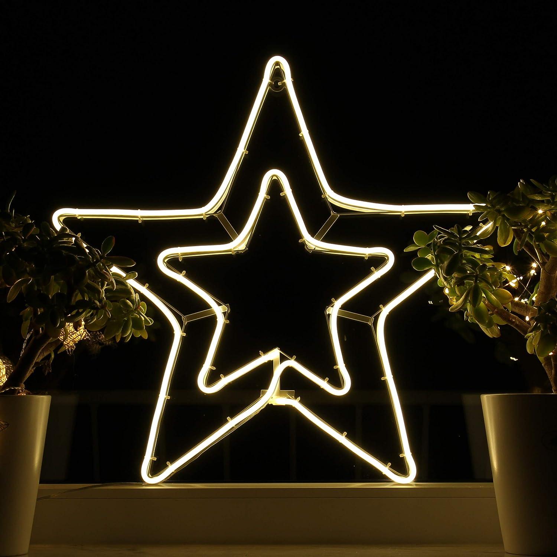 Ventana de decoración navideña Imágenes de ventana de estrella LED ...