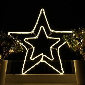 Weihnachtsdekoration Beleuchtung Deko Weihnachtsbaum Stern Fensterschmuck NEU