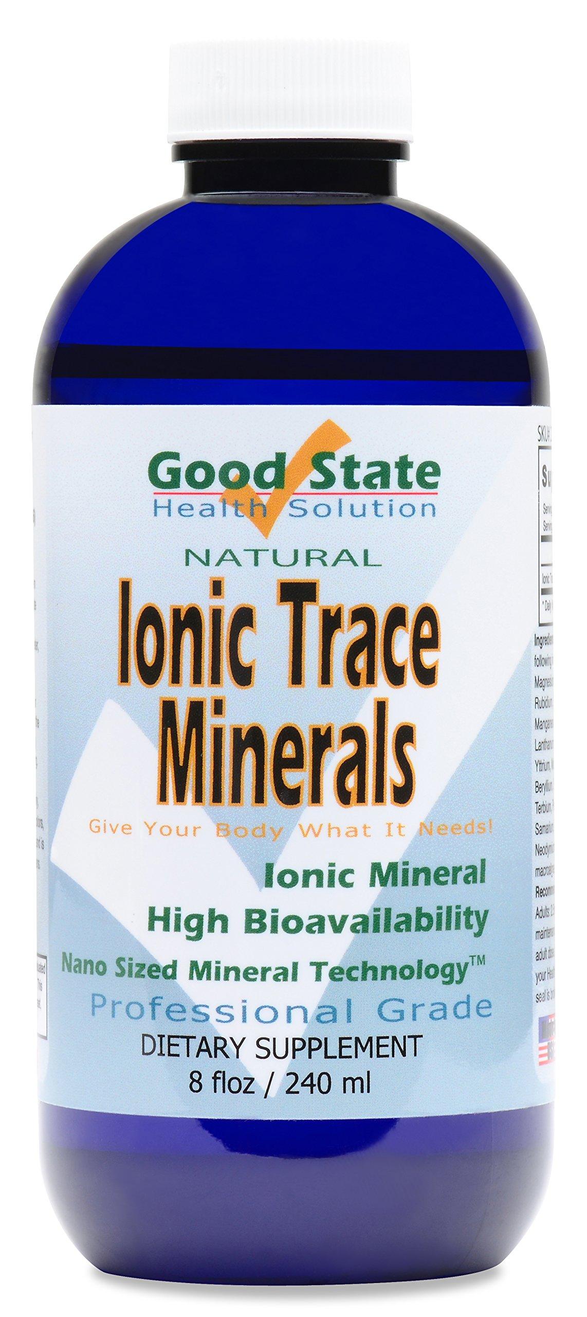 Good State Liquid Ionic Trace Minerals (96 servings at 125 mg - 8 fl oz)