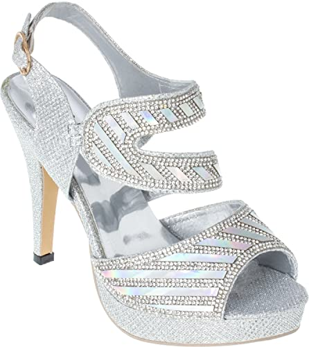 d6bf04200f45 iAnna Silver Mirror Work Platform Pump - EU 37  Buy Online at Low Prices in  India - Amazon.in