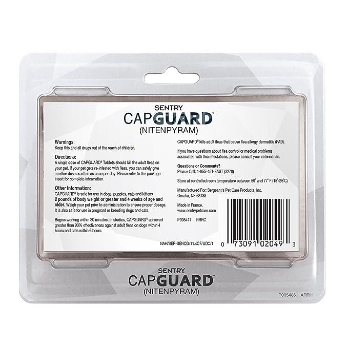 Amazon.com: Medicamento oral Capstar (nitenpyram) de Sentry ...