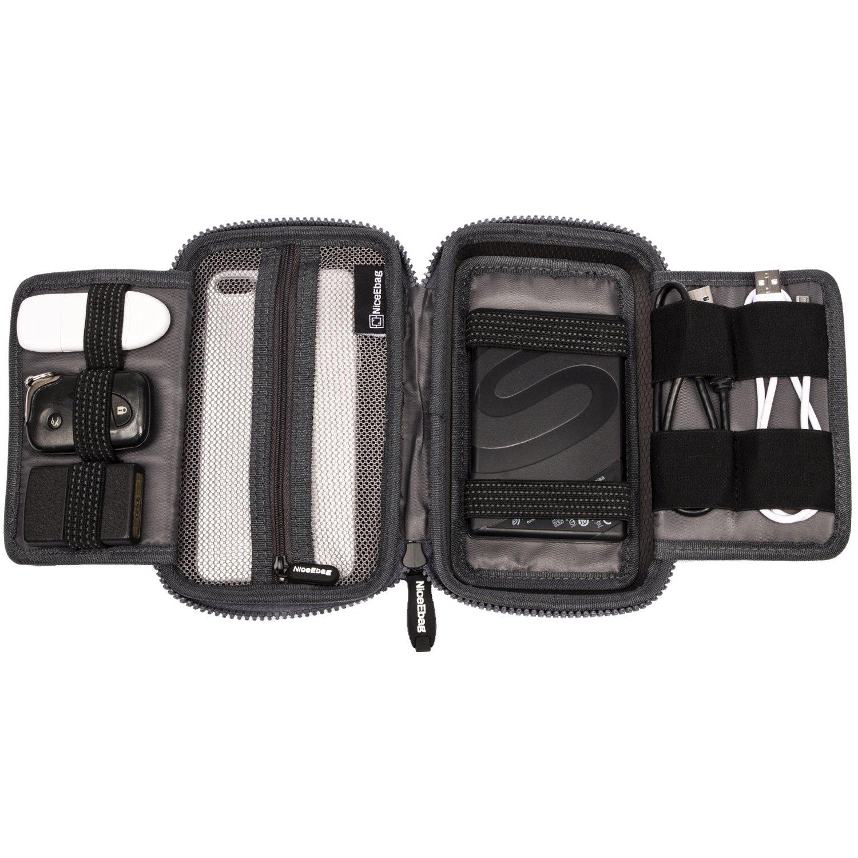 NiceEbag EVA Portable Electronics Accessories Carrying Storage Case Power Bank USB Data Cords Multiple External Hard Drive Healthcare Grooming Kit Travel Bag (Grey) by NiceEbag (Image #4)