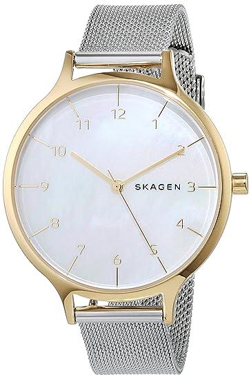 Skagen Reloj Analógico para Mujer de Cuarzo con Correa en Acero Inoxidable SKW2702
