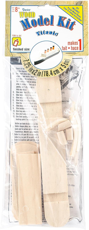 Darice 9178-91 Wooden Titanic Model Kit