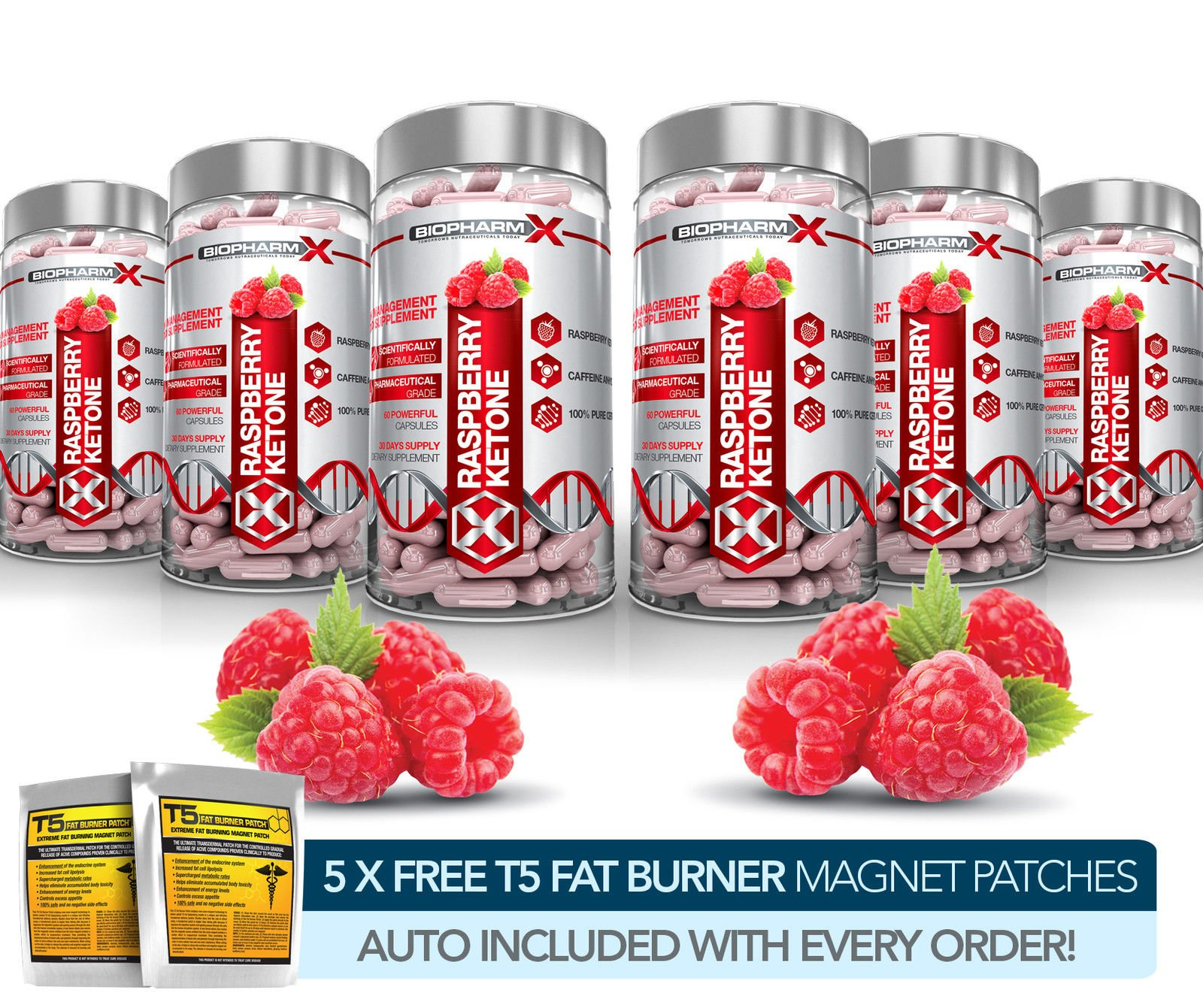 X6 PURE RASPBERRY KETONES - STRONGEST SLIMMING / DIET & FAT BURNER + DETOX PILLS