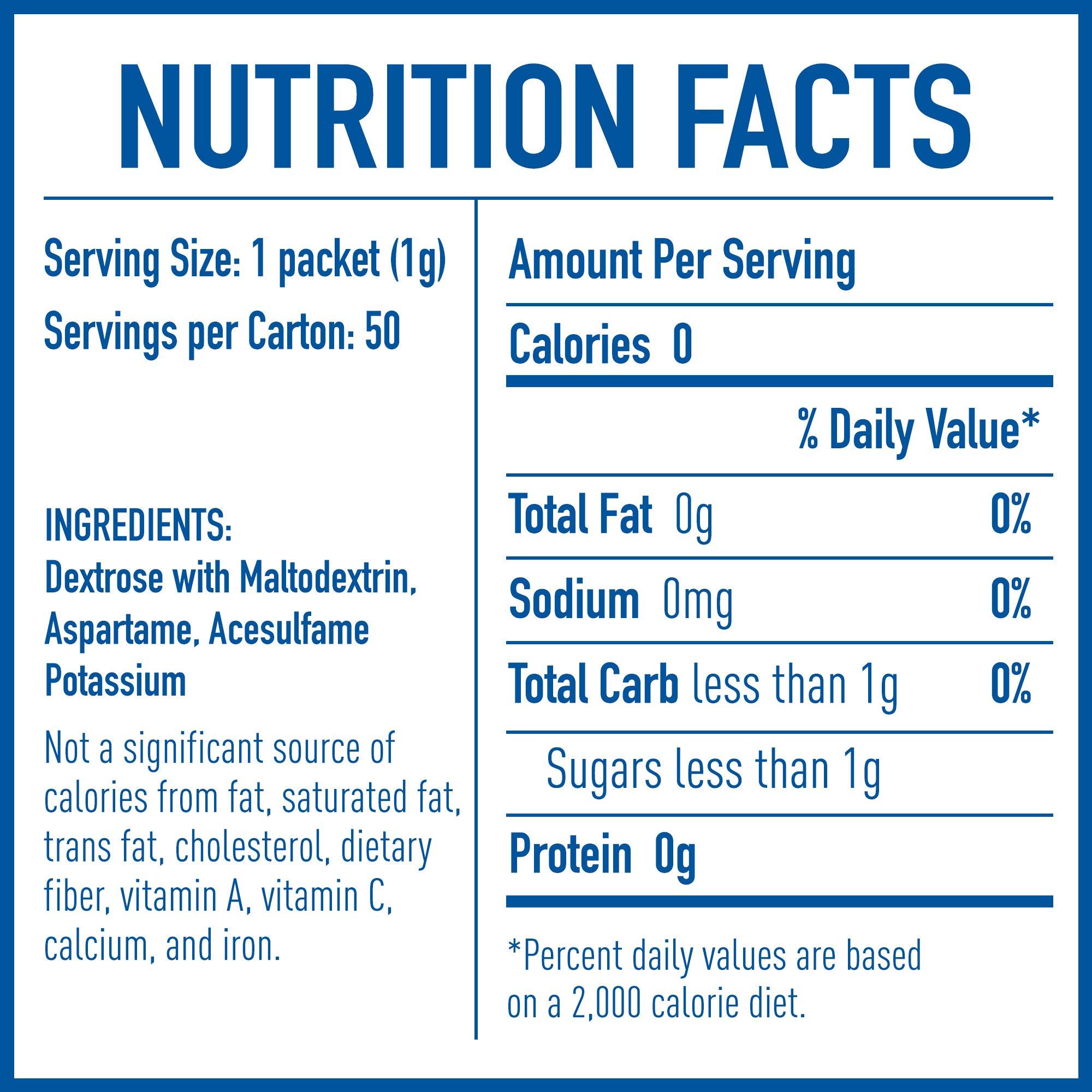 EQUAL 0 Calorie Sweetener, Sugar Substitute, Zero Calorie Sugar Alternative Sweetener Packets, Sugar Alternative, 50 Count (Pack of 12) by Equal (Image #6)