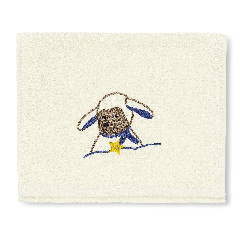 Sterntaler Serviette en Éponge pour Enfant Stanley2 Le Mouton 30 x 50 cm STNI0 7161628