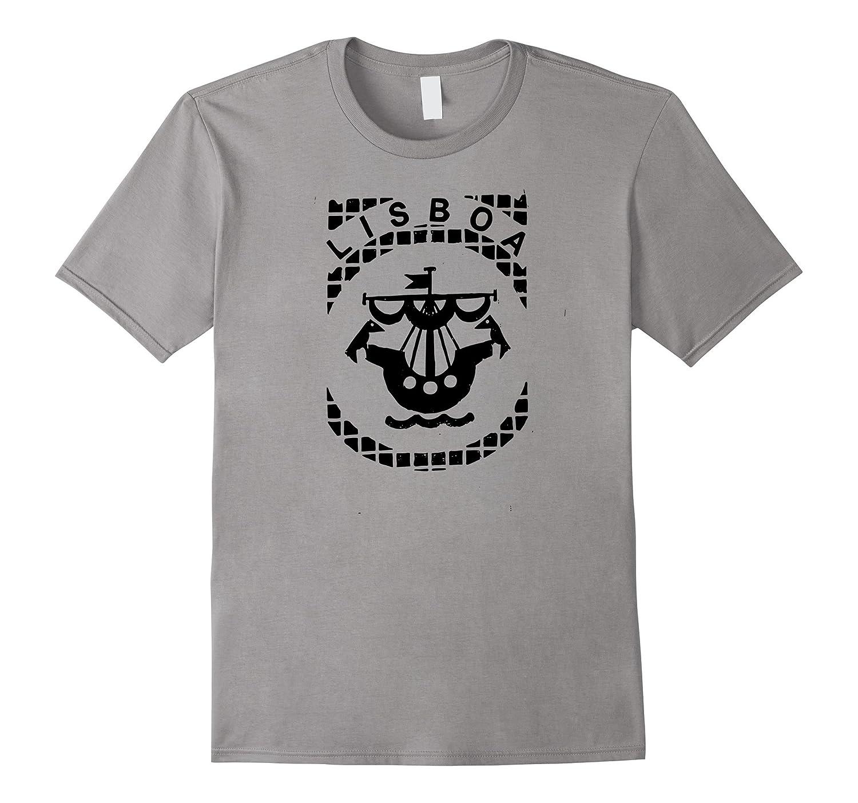 Street Art T-Shirt: Lisbon Manhole Cover Print Shirt Lisboa-T-Shirt