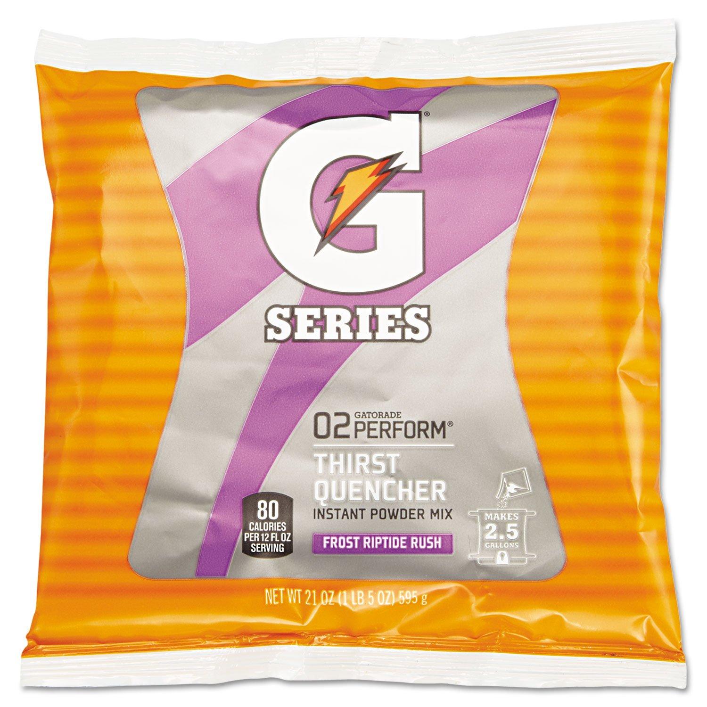 QOC33673 - Gatorade Original Powdered Drink Mix, Riptide Rush, 21 Oz Packets