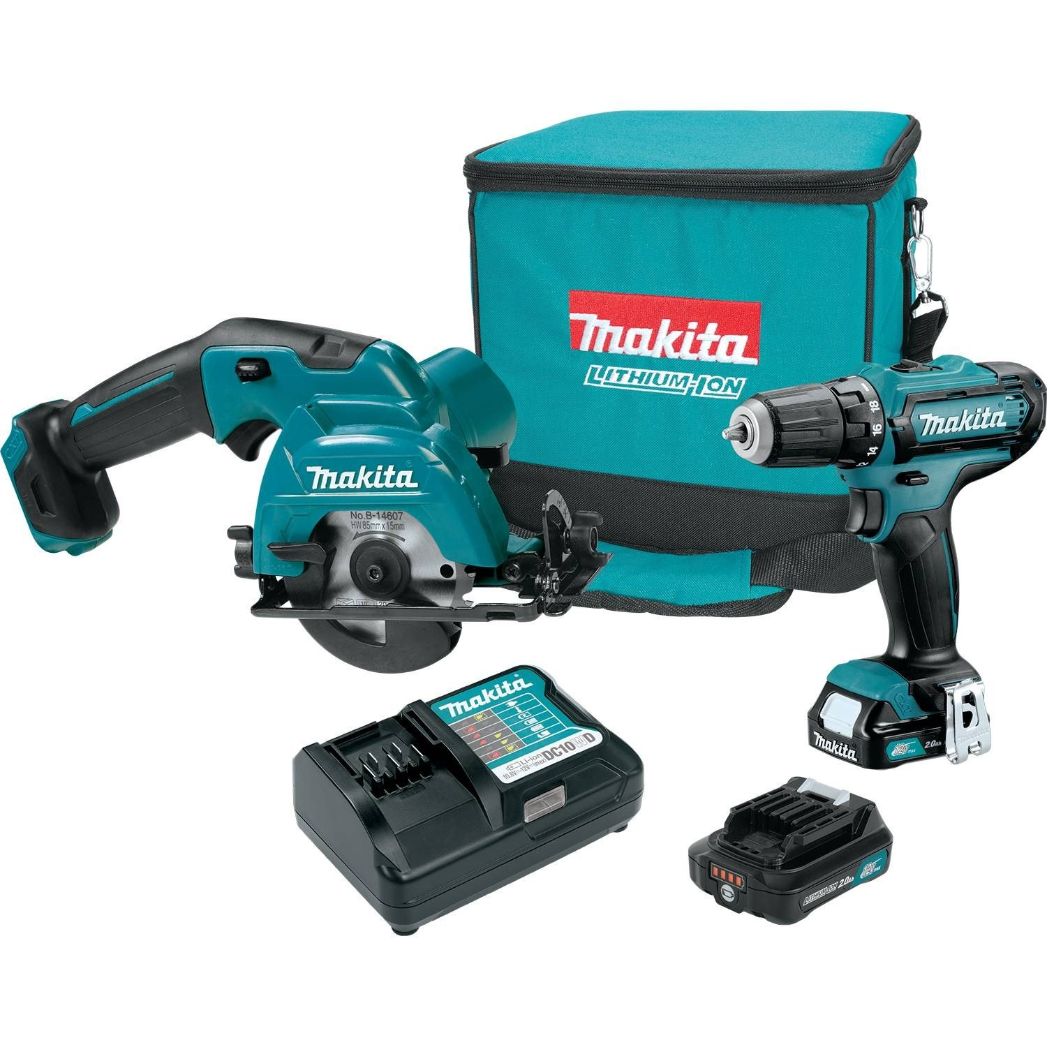 Makita CT227R CXT Lithium-Ion Cordless Combo Kit 2 Piece , 12V