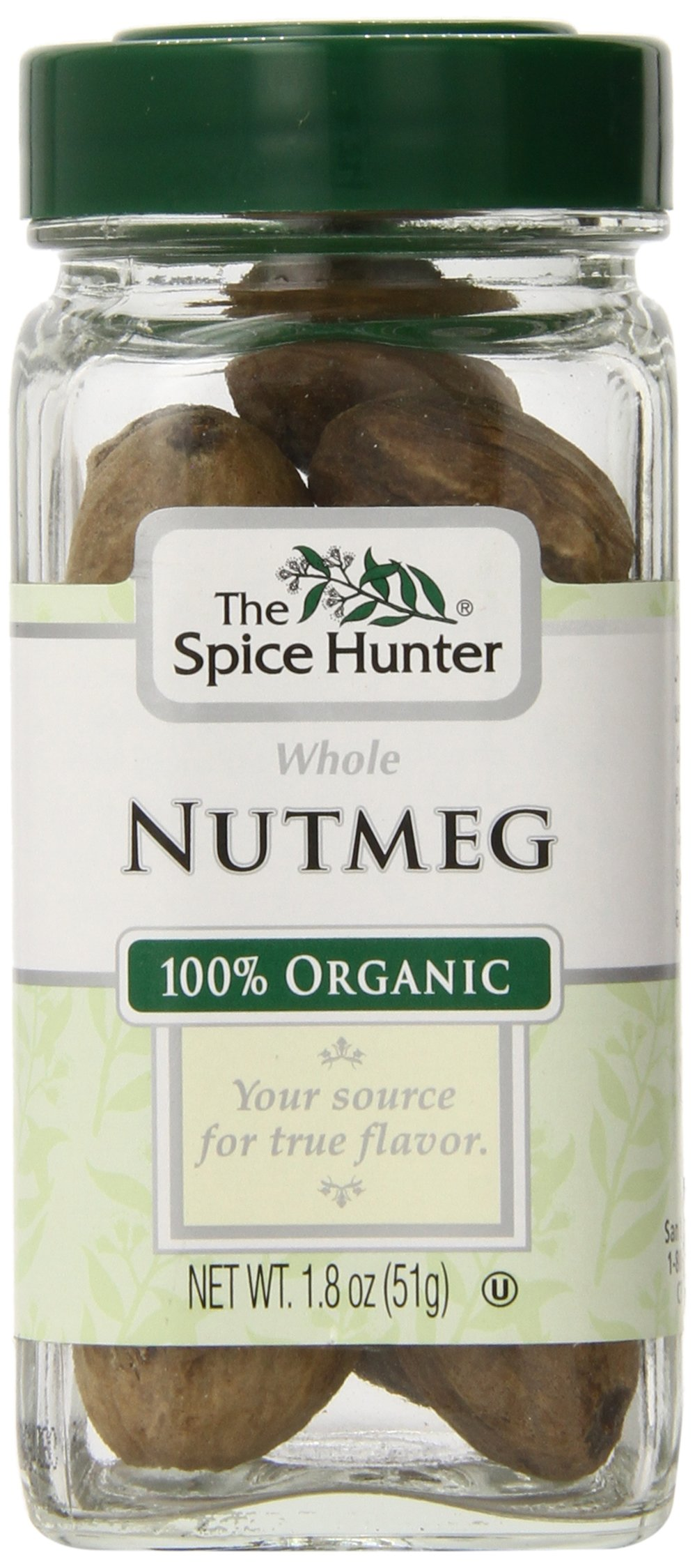 The Spice Hunter Organic Nutmeg, Whole, 1.8 oz. jar by Spice Hunter (Image #1)