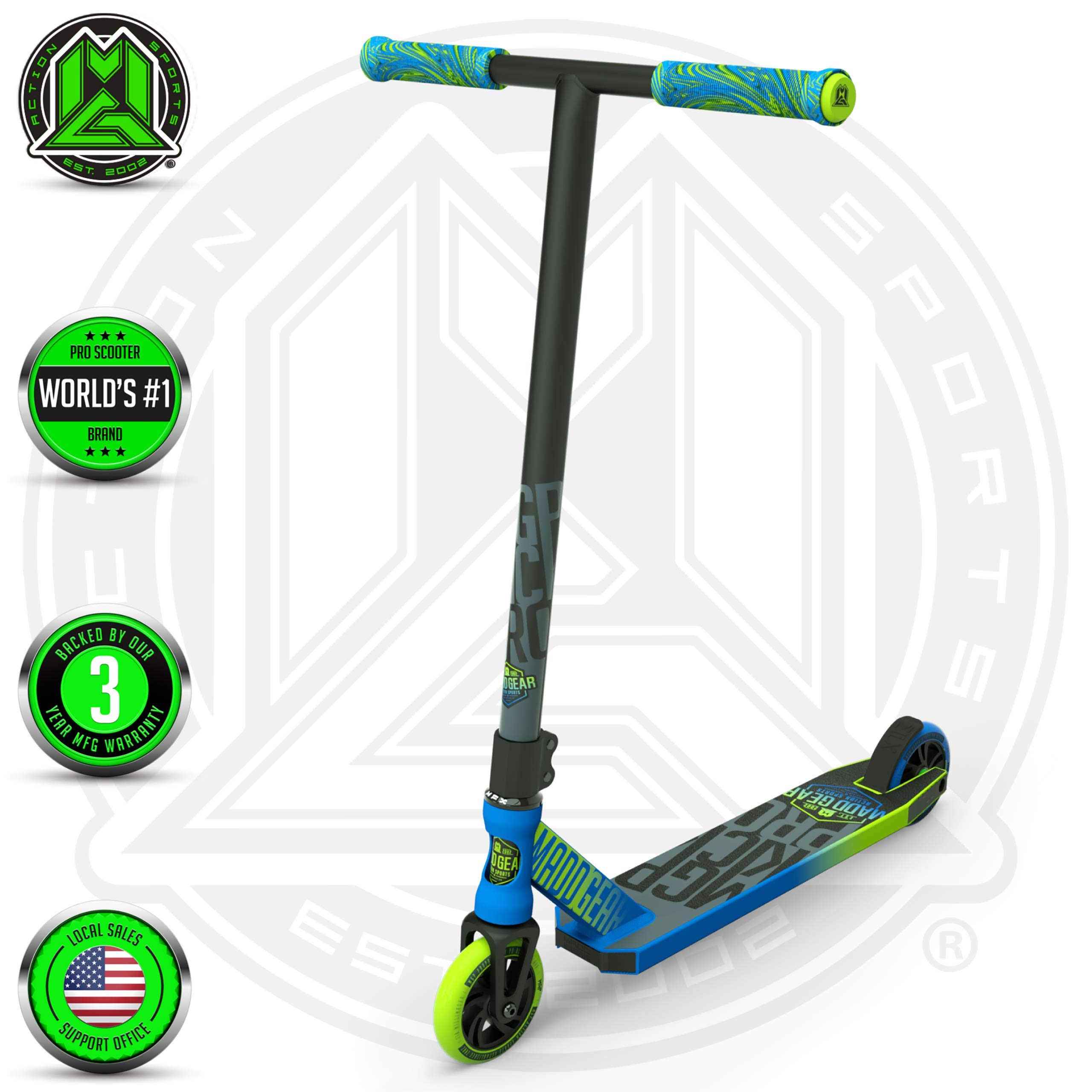 Madd Gear MGP Action Sports Kick Pro Scooter (Blue/Green 2019)