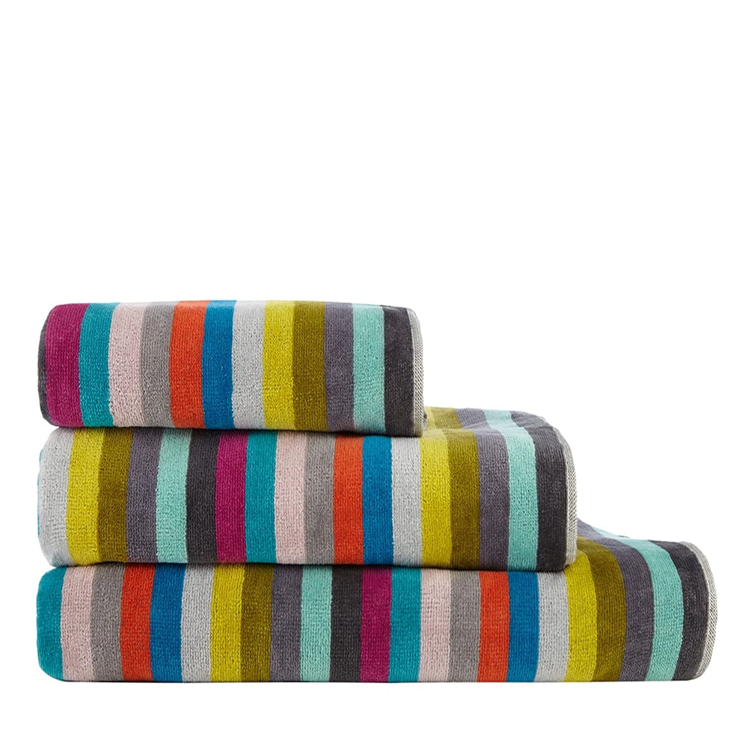 Debenhams Multi-Coloured 'Lizzie' Striped Print Hand Towel Bath Sheet Home Collection Basics