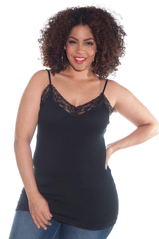 4 Pack Zenana Women's Lace Trim Tank Tops Large White, Charcoal, Black, H Gray