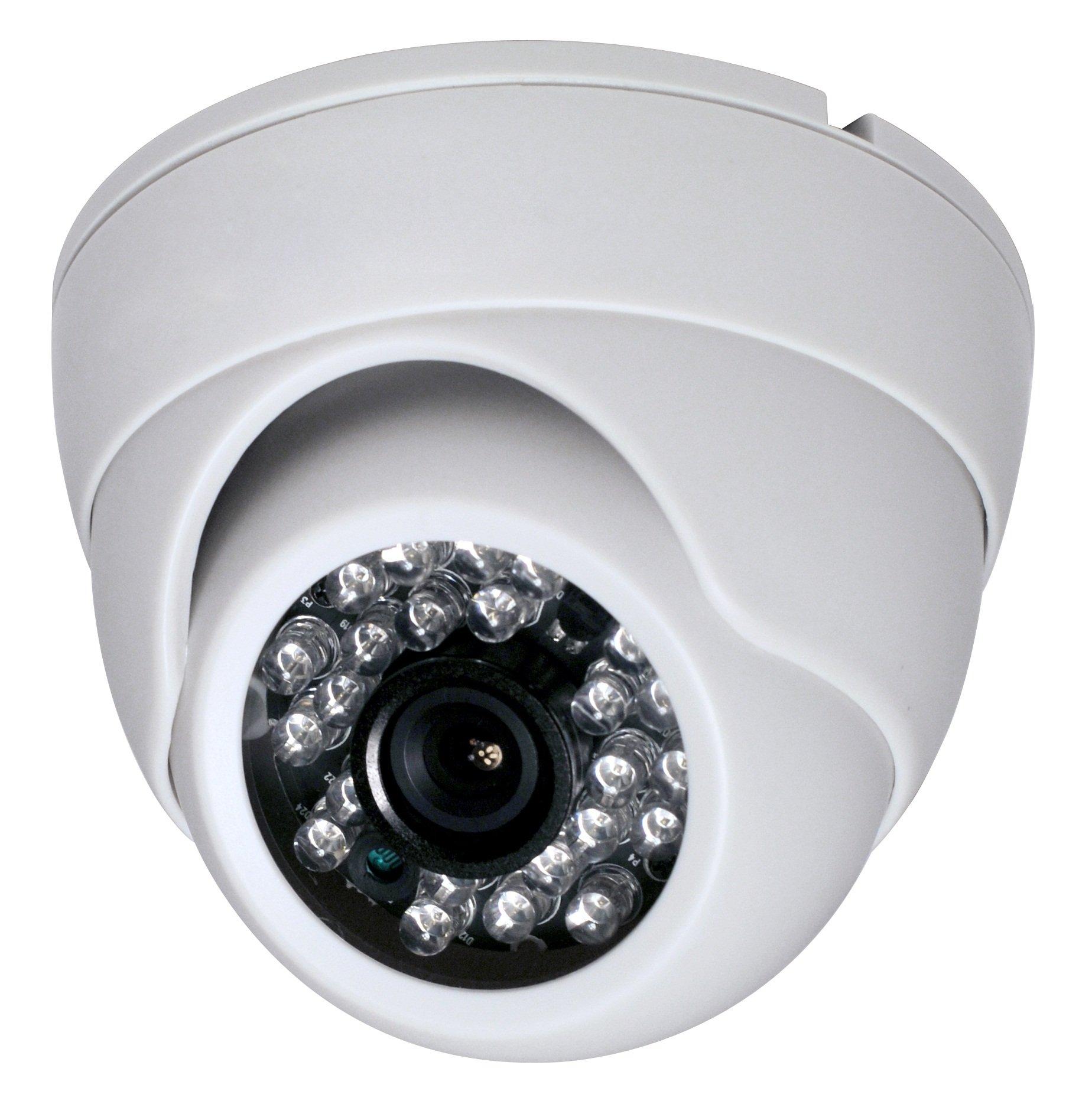 2 Megapixel 1080P Dome IR HD-CVI HD-TVI AHD CVBS 700TVL (4 options in 1) Camera 24IR 3.6mm lens Vandalproof Small Indoor Outdoor Aluminum Housing Security Camera for White Color