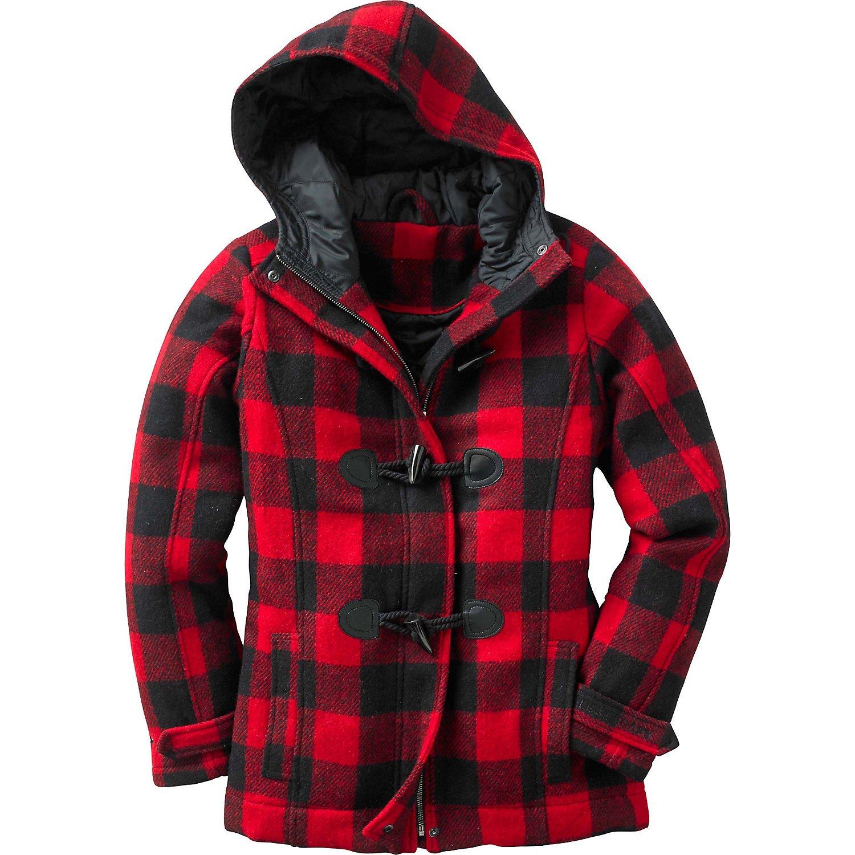 Womens red plaid jacket