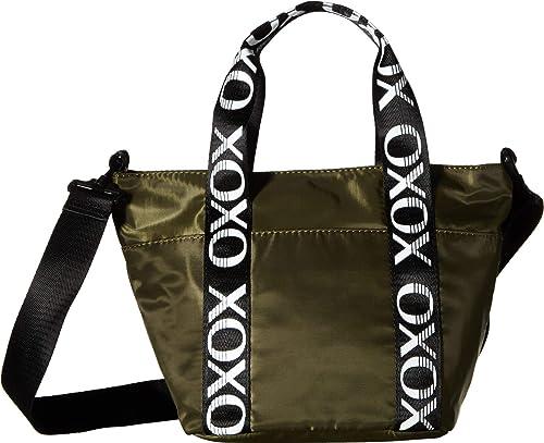 78c815e4c5cb Amazon.com  XOXO Womens Sport Tote w Logo Webbing Olive One Size  Clothing
