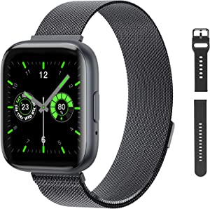 Smart Watch with Call,G.Home Fitness Tracker for Android Phones and Compatible with iPhone,Waterproof Smartwatch Step Counter with Heart Rate Blood Pressure Sleep Monitor (1.54