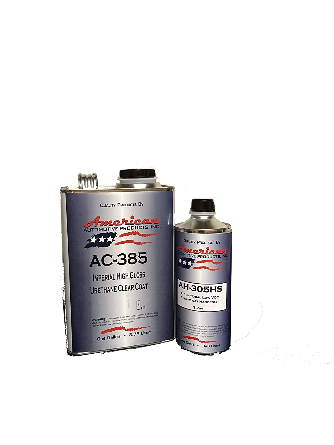 AC-385HS Automotive Clear Coat Gallon 2K Urethane Clearcoat Kit Slow Activator Auto Body Supply Warehouse
