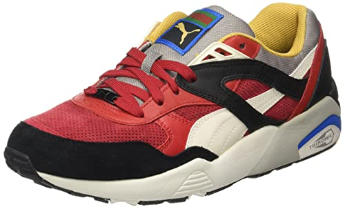 Puma Men's R698 Flag Low-Top Sneakers, Multicolor (Barbados Cherry Black -Whisper