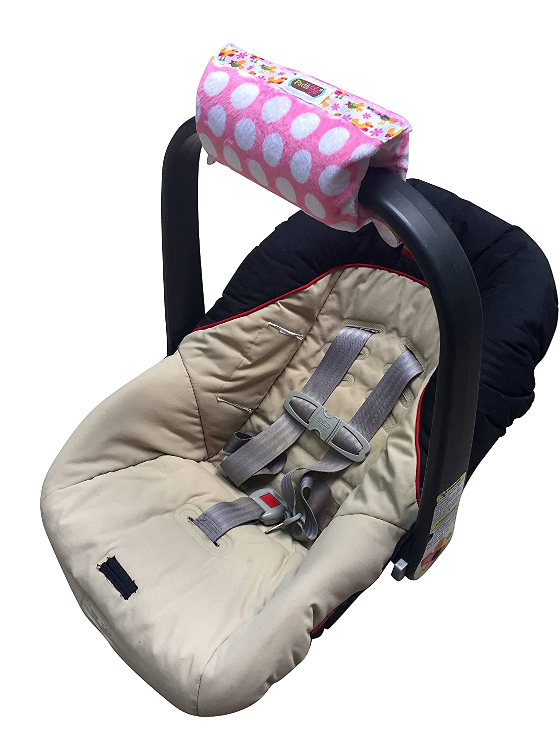 Girl Whales Arm Cushion for Infant Car Seat The Padalily Handle Cushion
