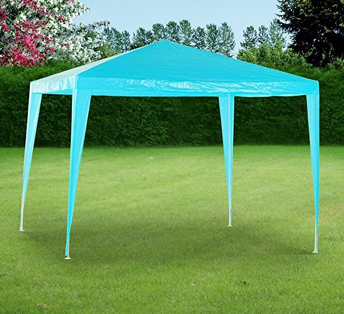 Tarrington House Carpa para jardín (3 x 3 m, Polietileno, Resistente al Agua, 3 x 3 m), Color Turquesa: Amazon.es: Jardín
