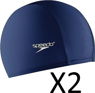 Speedo Adult Nylon Lycra Swim Head Cap w/ Elastic Band