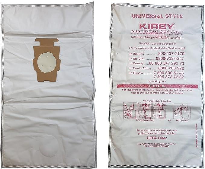 12 Kirby Sacs D/'Aspirateur F Style Universel Véritable Microns Magique Hepa