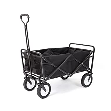 Mac Sports WTC-145 Collapsible Outdoor Folding Wagon, Black