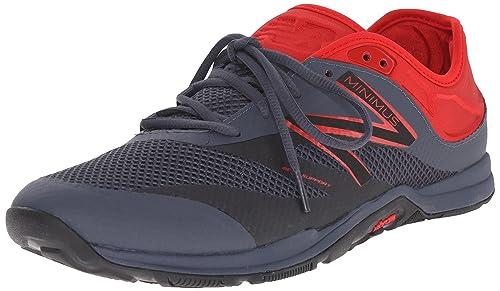 New Balance Men's 20v5 Minimus Training Shoe, Grey/Toxic, 44 EU