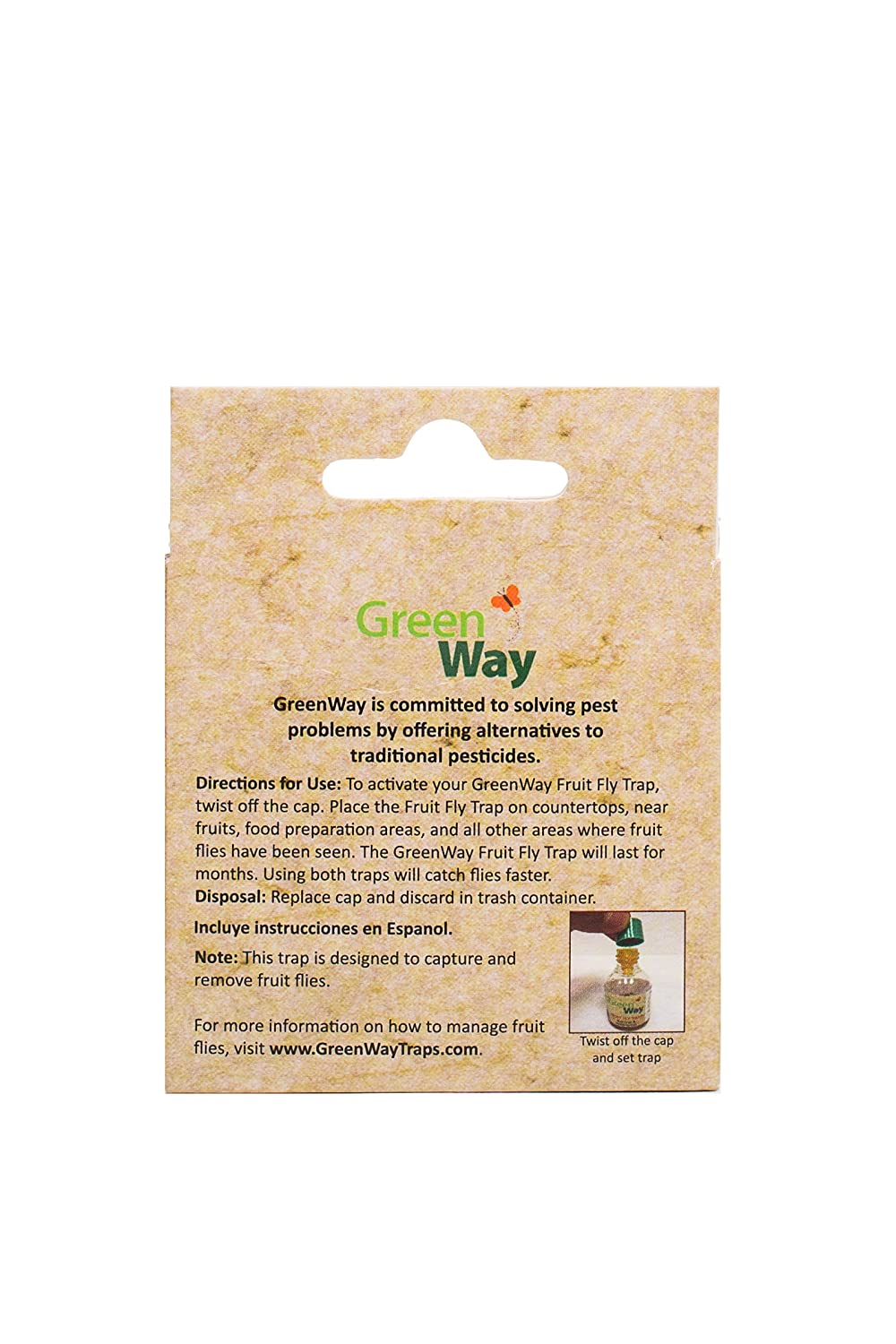 Amazon.com : GreenWay Fruit Fly Trap (2 bottles) | Natural Liquid Attractant, Ready To Use Bottles | Safe, Non-Toxic with No Insecticides or Odor, ...