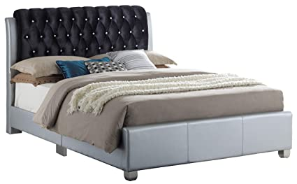 Glory Furniture Marilla G1503C-QB-UP Queen, Silver Bed Room Furniture 48""