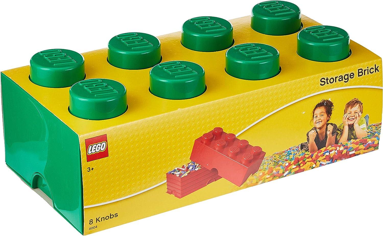 LEGO 40040634 - Caja en Forma de Bloque 8, Color Verde