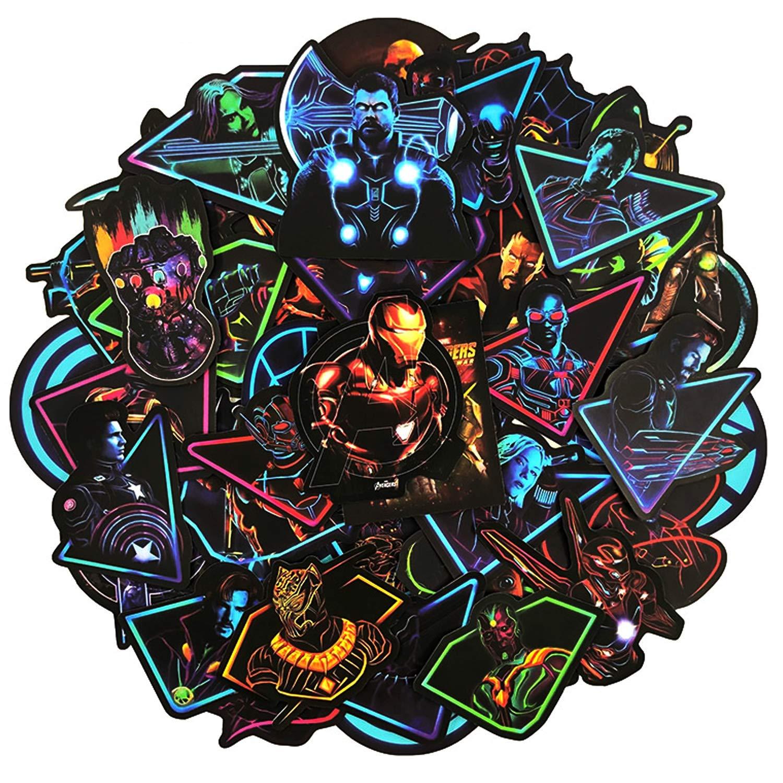 Stickers Calcos 50 Un. Neon Super Heroes (7rpqjrmm)
