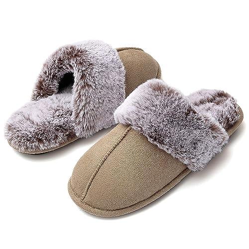 Hausschuhe Softsohle Gefüttert Pantoffeln Pantoletten Indoor Shoes Slipper