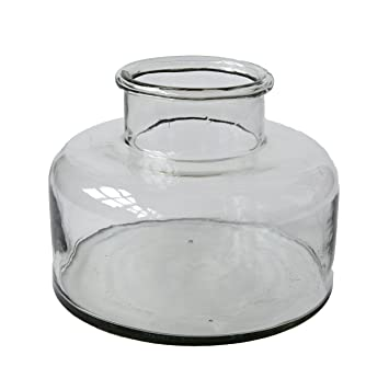 Creative Co-Op da6317 corto con forma de botella de vidrio soplado transparente Hurricane: Amazon.es: Hogar