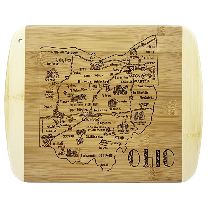 Totally Bamboo A Slice of Life Ohio Bamboo Serving and Cutting Board