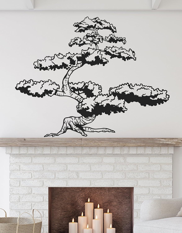 Árbol Bonsai Japonés Pared Arte Vinilo Calcomanía arte japonés Varios Tamaños Colores