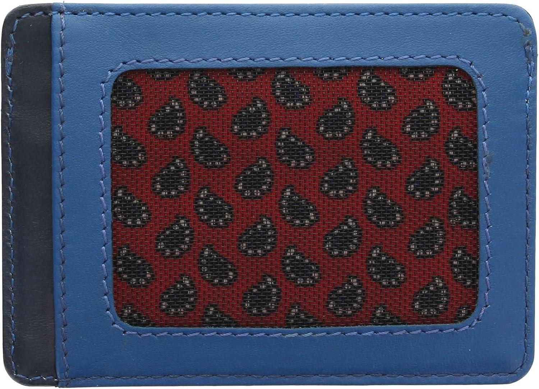 Visconti Lucca Collection Ramon Porte-Carte de Cr/édit Mince en Cuir /à Deux Tons LC35 Bleu
