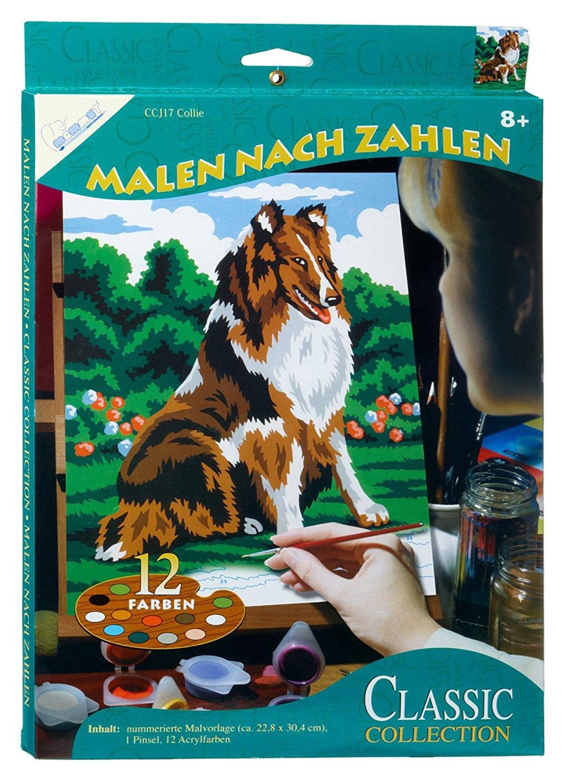 Mammut 110017 - Malen nach Zahlen Classic Collection-Collie, ca. 22 ...