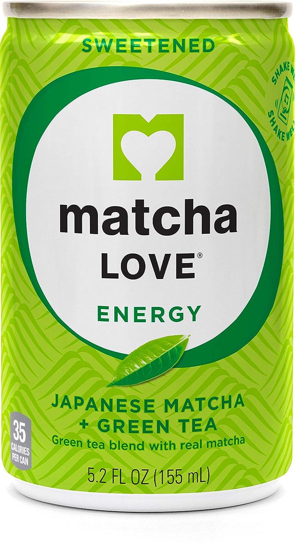 Matcha Love Green Tea Sweetened Energy Shots, 5.2 Ounce (Pack of 20)