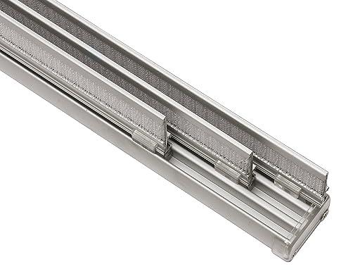 GARDINIA Komfort Flächenvorhangschienen Komplett Set, 3 Läufige Schiene,  Aluminium, 170 Cm