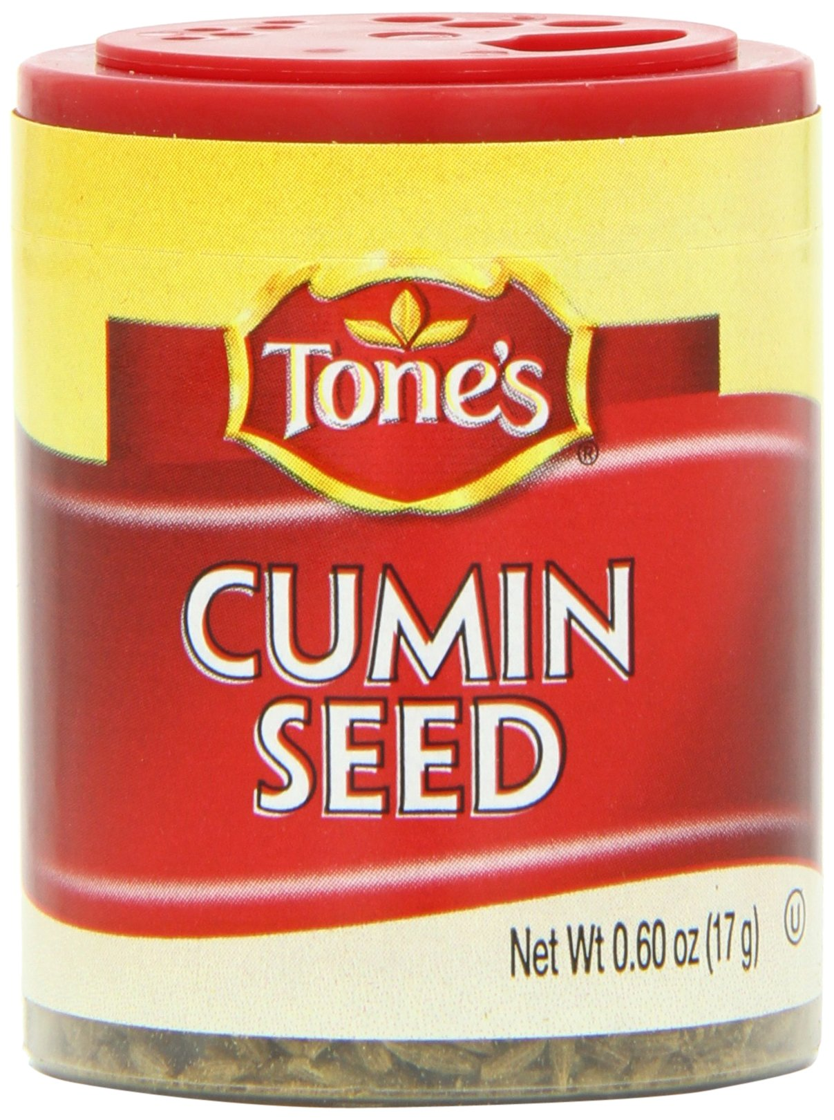 Tone's Mini's Cumin Seed, 0.60 Ounce (Pack of 6)